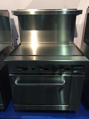 New 36 Range 36 Flat Top Griddle Full Oven Stove Propane Gas Free Liftgate