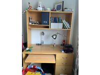 Desk and shelving