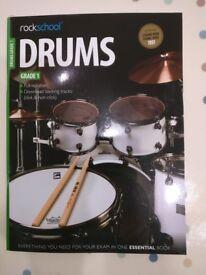 Rock School Drums grade 1 book- brand new and unused