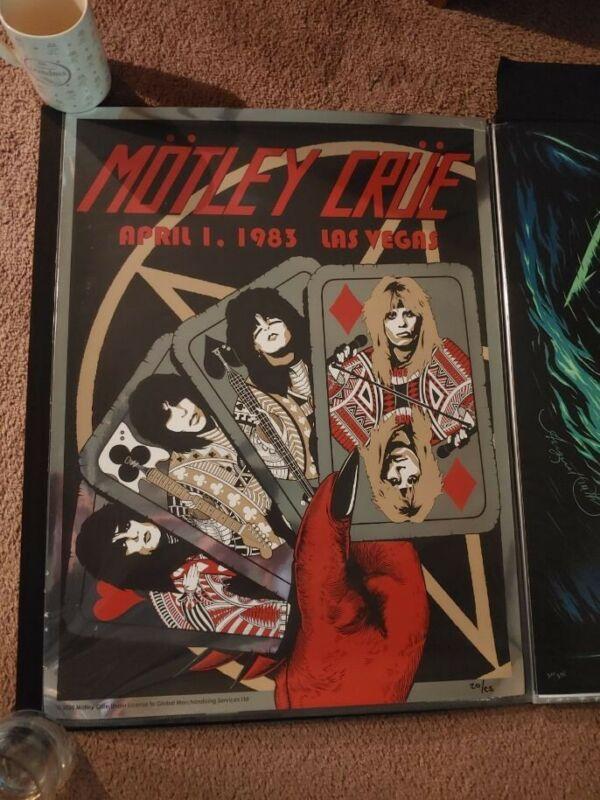 Motley Crue 1983 Foil Las Vegas Concert Poster