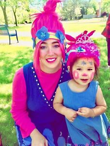 Princess poppy troll parties birthday events face painting