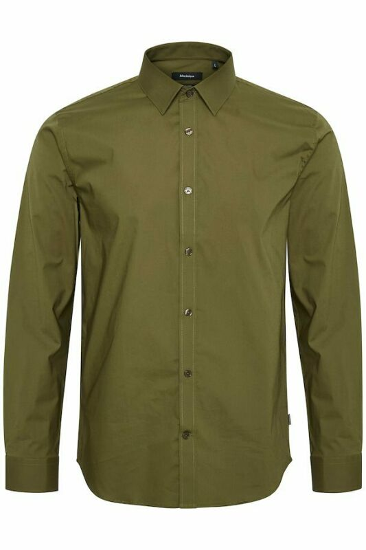 MATINIQUE Men Robo D22075061S Long Sleeve Shirt Stretch Solid Moss Green 39/40 M