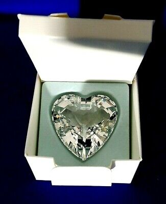 SWAROVSKI 1996 CLEAR CRYSTAL HEART RENEWAL GIFT 9003140065503