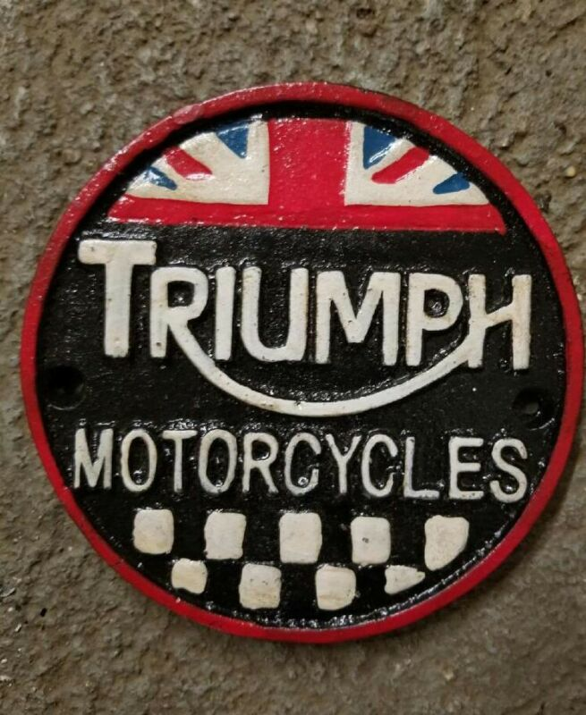 Advertising sign motorcycle Triumph