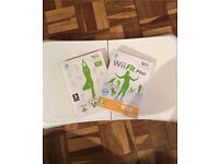 Wii fit balance board and Wii fit games