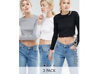 Pack of 3 brand new crop tops