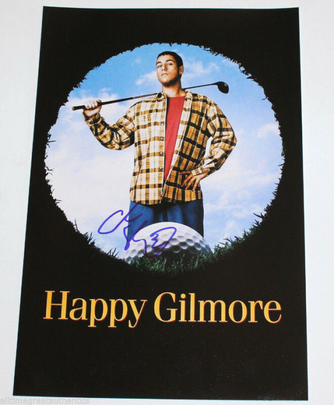 ADAM SANDLER SIGNED AUTHENTIC 12X18 'HAPPY GILMORE' MOVIE POSTER PHOTO w/COA
