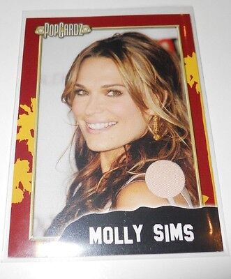 PopCardz Costume Trading Card #12 Actor Molly Sims (V.1)  (Sims Costume)