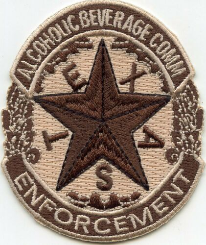 TEXAS TX STATE Alcoholic Beverage Commission ABC ENFORCEMENT small POLICE PATCH