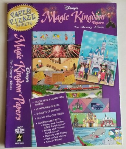 Vintage Disney Scrapbooking Magic Kingdom Papers 8.5x11 Papers Cutouts Crafting - $9.75