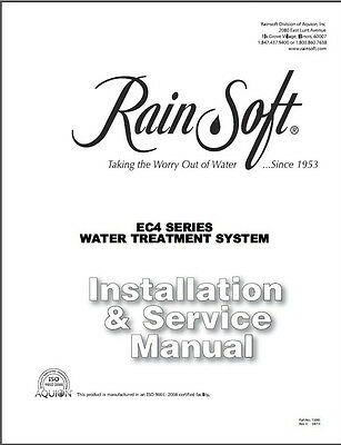 digital .pdf manuals on CD for Rain Soft EC4 Oxytech water system,softener