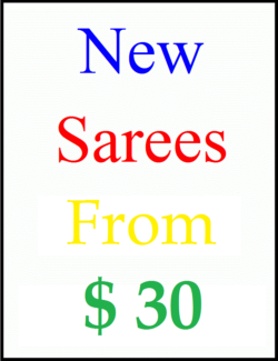 Brand New Indian sarees from $30 - pickup or buy online
