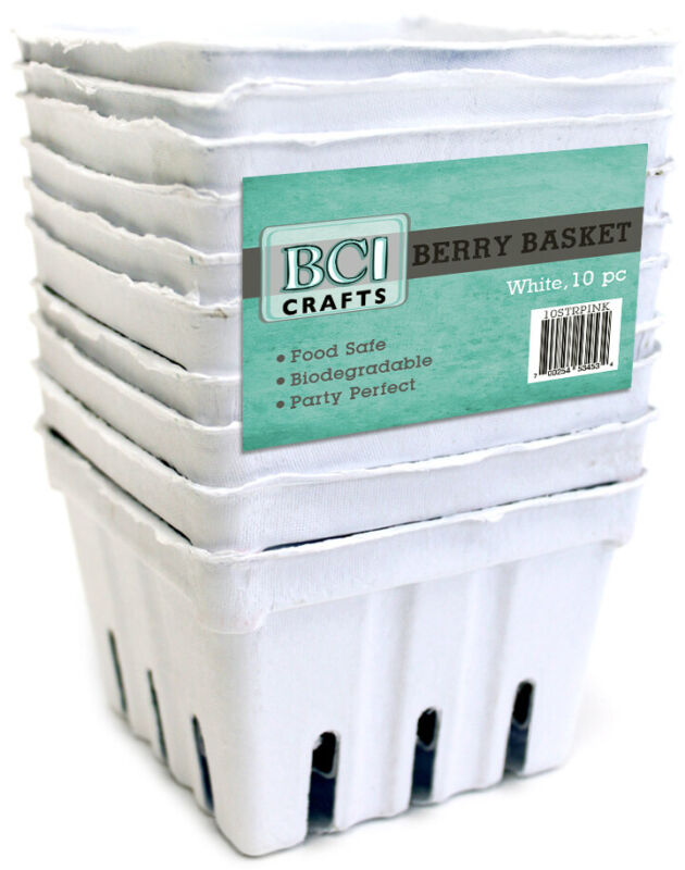 BCI Crafts-Berry Basket 10/Pkg-White