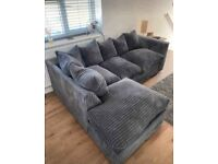 BRAND NEW L SHAPE DYLAN JUMBO CORD CORNER AND 3+2 SEATER SOFA SET AVAILABLE IN 4 COLORS