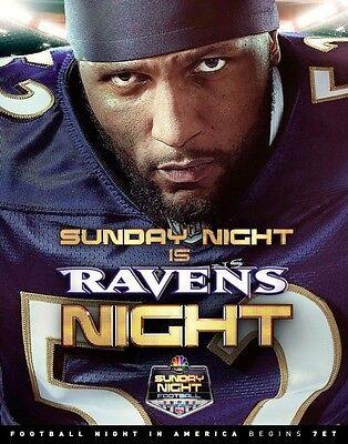 Awesome Ray Lewis Sunday Night Football Photo  Ravens Night 8X10