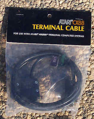 CX-88 Terminal Cable 8-bit Atari New 800/XL/XE/810/1050