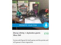 Disney infinity + Sky landers giants Xbox 360