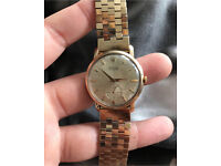 ROLEX VINTAGE 9CT GOLD CASE AND 9CT STRAP