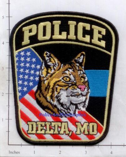Missouri - Delta MO Police Dept Patch - Bobcat