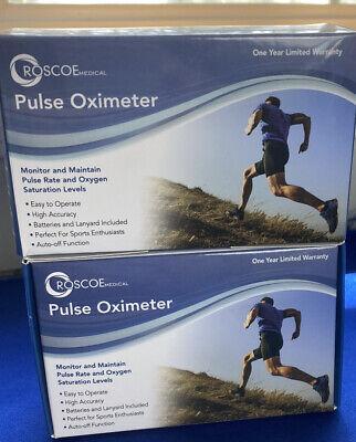 Roscoe Medical Finger Pulse Oximeter O2 Monitor Finger Oxygen Monitor 2