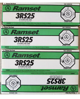 Ramset 100green Power Level 6.3 10mm 3rs25 400 Total Dx35 Tool Hilti