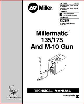 Millermatic 135 175 Service Manual Lb204053 Lb204281