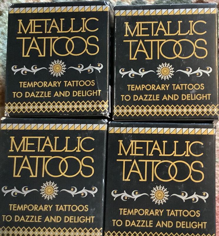 4+X+Boxes+Metallic+Tattoos+Temporary