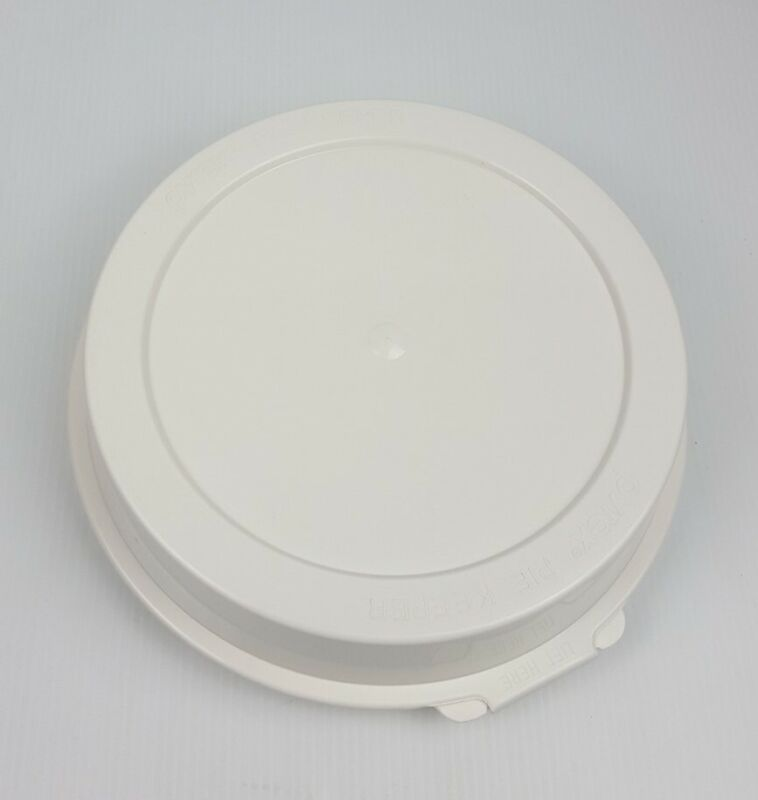 """Pyrex Pie Keeper P309 Hinged Domed White Plastic For 9"""" Pie 209 And Corning Pan"""