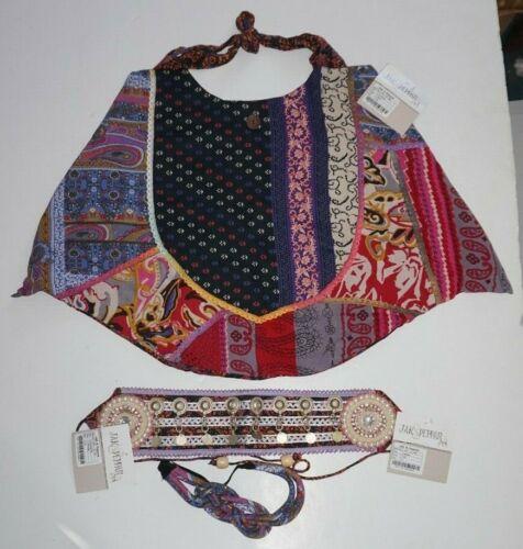 Jak & Peppar Large Exon Hobo Shoulder Bag Purse Stevie Headband Juniper Belt Lot