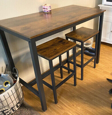 Breakfast Bar Table And Stools Kitchen Dining Room Industrial Furniture Set