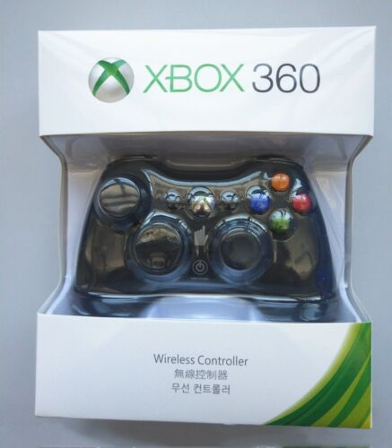 Official Microsoft Xbox 360 Wireless Controller BLACK/WHITE - NEW! US Stock