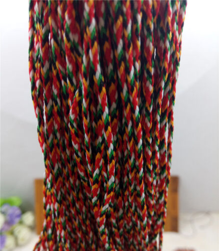 BY YARD TIBTETAN HAND MADE 2mm FIVE COLOR RAINBOW STRING, BUDDHIST DIY MUST HAVE