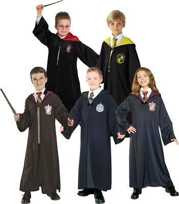 Harry Potter Costumes Adults (Adult & Children Harry Potter Hogwarts Tie Glasses Wand Cape Cloak Robe)
