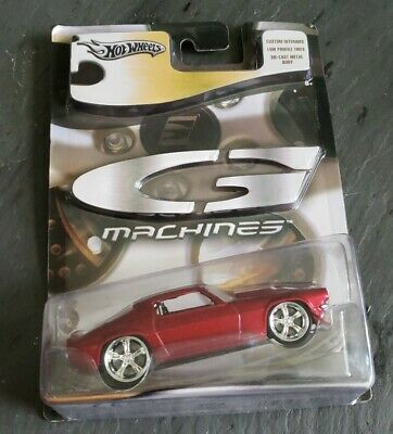 Hot Wheels G-Machines Cherry Red '70 Chevy Camaro w/Real Riders HTF 1:51 NEW