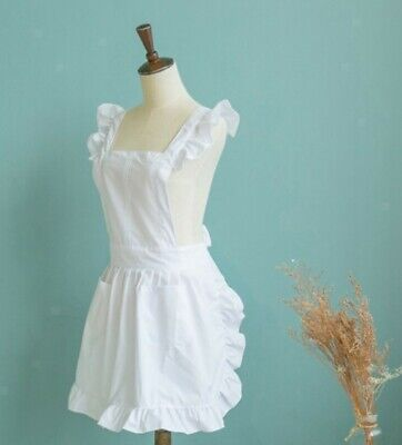 Victorian Style Vintage Pinafore Aprons for Women Girls Cute Lovely Retro Ladys