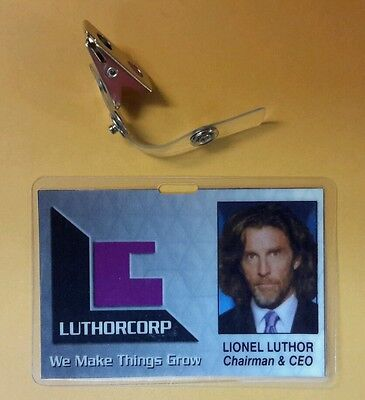 Superman Smallville ID Badge-Luthorcorp Lionel Luthor