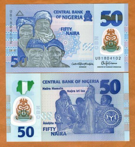 Nigeria, 50 naira, 2018, Pick 40-New,  POLYMER, UNC