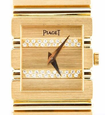Women's Piaget Polo Quartz Watch Solid 18k w/ Diamond Dial & Original Box 438813