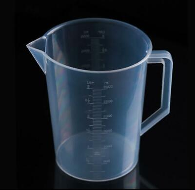 3-liter3000ml Measuring Cup Beaker W Handle Spout 250ml Graduations For Labs