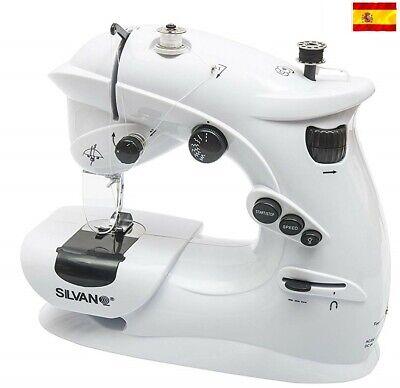 Maquina de coser portatil 7 puntadas corriente y pilas pedal costurera con...