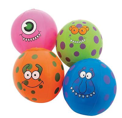 12 Inflatable Mini Monster Beach Balls Luau Pool Kid's Birthday Party Favors - Mini Beach Balls Favors