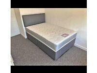 💛💛WEEKEND SALE START💛💛NEW DOUBLE DIVAN BED BASE INCLUDING MATTRESS (Headboard Optional)