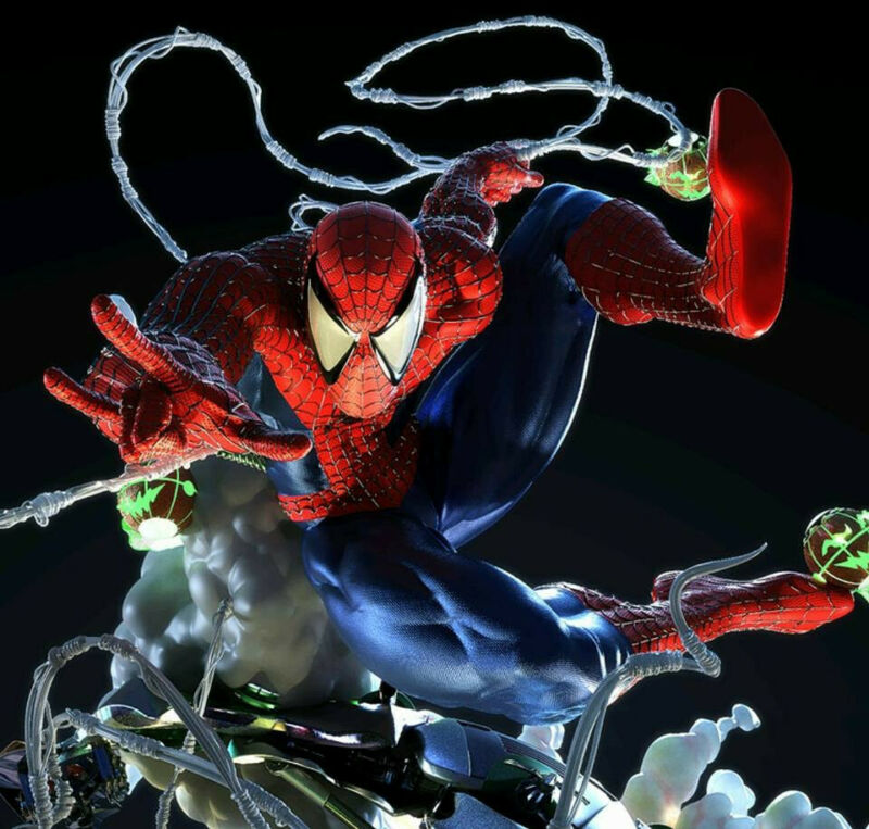 Rare Custom Spider-Man McFarlane 1/4 Scale Statue. Not Sideshow.