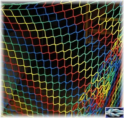 2 METER breites Schutznetz, Dekonetz, Ballfangnetz, Kinderschutznetz 3mm stark