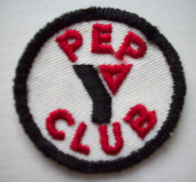 PEP CLUB YMCA embroidered patch