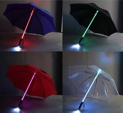 LED Light-saber Umbrella Rain Sun Outdoor Flashlight  (Led Saber)