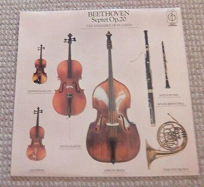 "Beethoven Septet Op. 20 The Ensemble of St. James 12"" Vinyl Record"