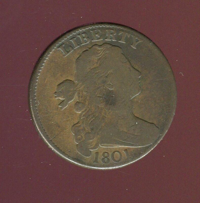 1801 Draped Bust Large Cent | Very Good Plus | CP2748