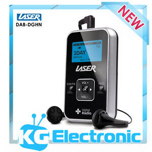 Laser DAB-DGHN - Portable Digital Radio DAB+ & FM in your pocket - LCD Display