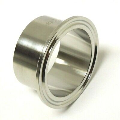 Sanitary 4 304 Stainless Long Weld Ferrule Clamp End Dairy Tri Clover San037